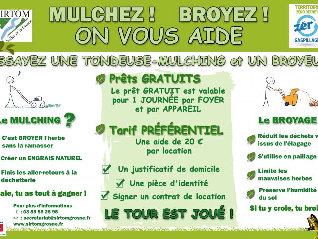 Mulcher, Broyer! on vous aide!