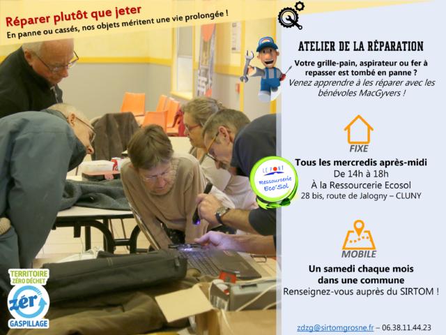 Atelier d'auto-réparation : Sam. 26/10 à Ameugny
