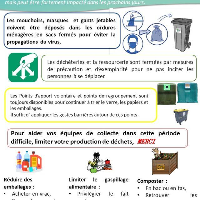 Actualité COVID-19 – Pensez «réduction de déchets» !