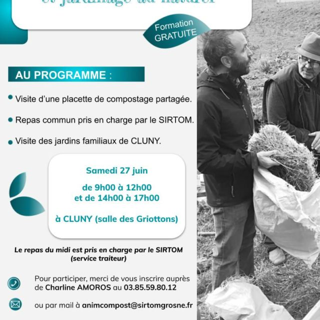 Formation compostage et jardinage au naturel – samedi 27 juin – de 9h à 17h