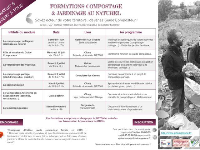 Programme des formations guide composteur