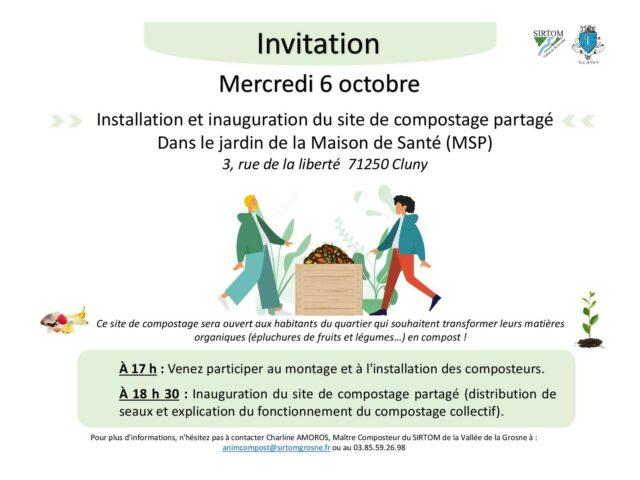 Inauguration du site de compostage de la Maison de Santé de Cluny